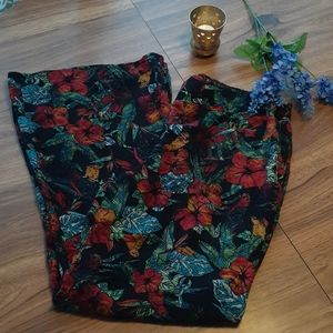 Mudd Floral Wideleg Pants Size Extra Large